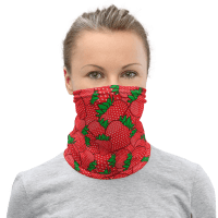 New Yummy Yummy Yum Strawberries Protective Face Cover Facemask / Face Mask / Balaclava / Neck Gaiter