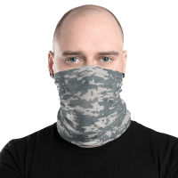 U.S. Army Camo Uniform Face Mask, Neck Gaiter Face Shield Cover Balaclava Scarf Headwear Neck Gaiter
