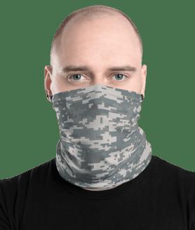 U.S. Army Camo Uniform Face Mask, Neck Gaiter Face Shield Cover Balaclava Scarf Headwear Neck Gaiter