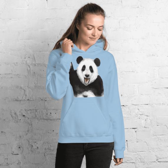 Unisex Panda Hoodie, Comfy Panda Pullover Hooded Sweatshirt, New Funny Hoodie
