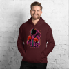 Unisex Fighter Astronaut Hoodie, Funny Hooded Sweatshirt Fashion with Design