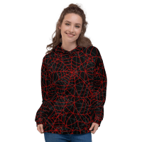 Unisex Halloween Spider Web Hoodie, Spiderman, Spider-Woman Hooded Sweatshirt