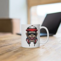 Funny Monkey Mug   Gorilla Music coffee Mug   Monkey Mug for musician   Gift for musician   Mug for music lover   Gift for music Lover