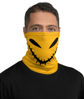 Evil Face Comfortable Washable Reusable Breathable Mouth Mask | Spooky Halloween Face Masks Neck Gaiter