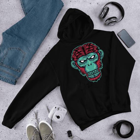 Neon Mafia Monkey Casual Hoodie Pullover Long sleeved Unisex Sweater