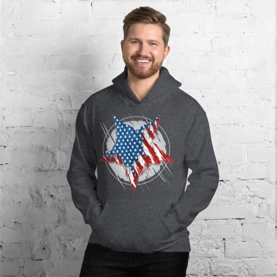 American Star Hooded Pullover Sweatshirt - Unisex United States Marines Hoodie