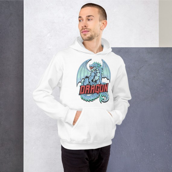 Cute Dragon Unisex Hoodie - Cool Graphic Hooded Pullover Sweatshirt
