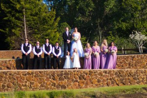 Bridal party at Clover Cottage Retreat, Manjimup