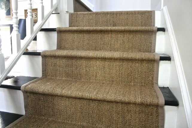 Diy Ikea Jute Rug Stair Runner What Emily Does | Carpet Stair Treads Ikea