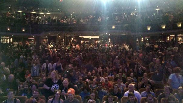 The view from the stage, after the final show. See you next year, Seamonkeys!
