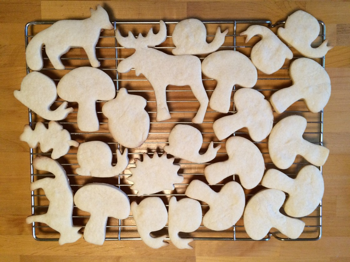The key to cute frosted sugar cookies? Cute cookie cutters!