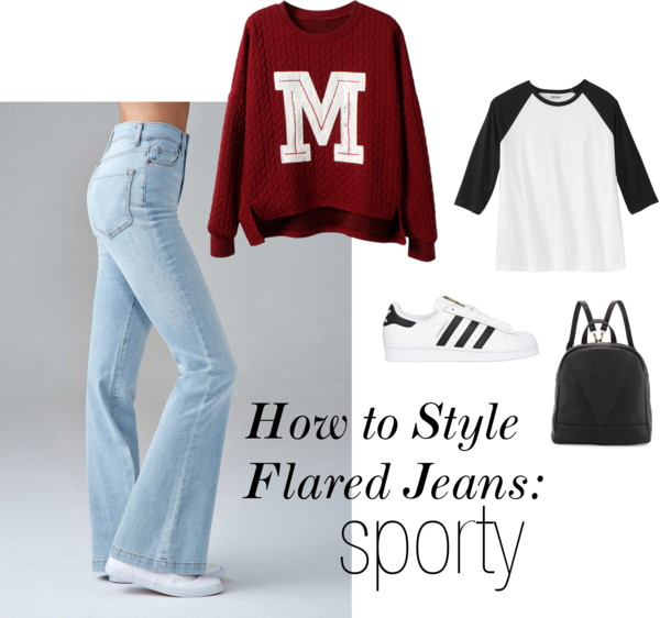How to Style Flared Jeans: Sporty