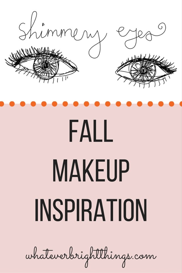 Nothing says fall like shimmery, metallic eyes. Whether you want a more subtle look, or full-on glamour, you'll fit right in this fall. Read more on Whatever Bright Things