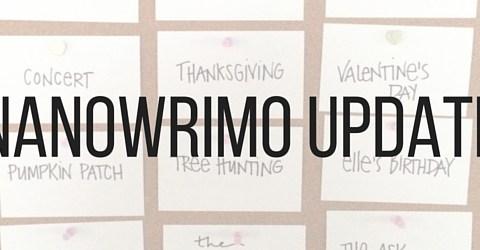 NANOWRIMO UPDATE