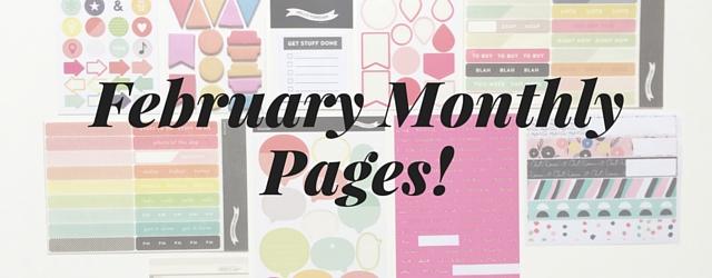 February Monthly Planner Pages
