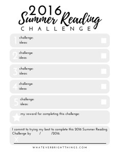 2016 Summer Reading B&W