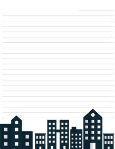 City Scape Stationery