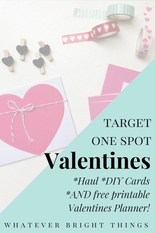 Cute, affordable, crafty Valentines. And the best part? Most of the supplies are from the Target One Spot! I also share a printable valentines planner. Sweet!