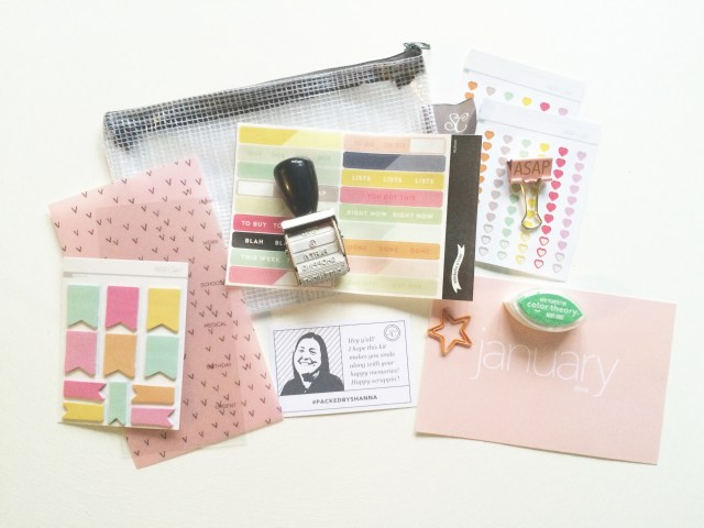 "Everything that came in Studio Calico's January Planner Kit: ""Arendal"""