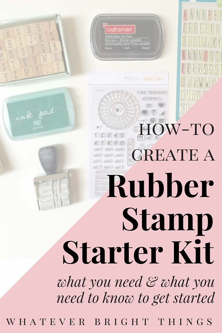 Looking to start stamping? Or want to share your love of stamping with someone else? Click through to see what to include in a Rubber Stamp Starter Kit and what you need to know to start stamping!
