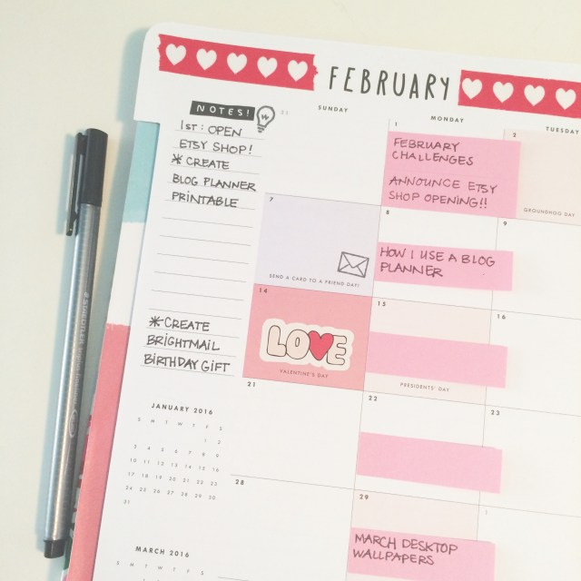 DIY Planner Close Up