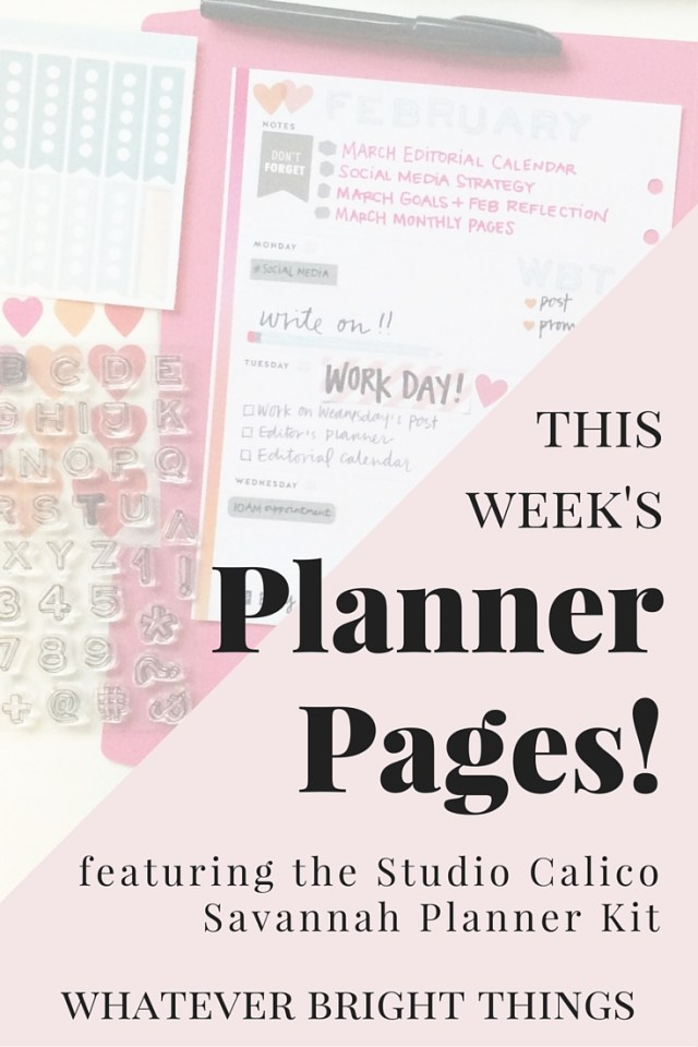 See how I used the Studio Calico Savannah Planner Kit to create a bright and colorful spread for the upcoming week. Click through for simple planner inspiration!