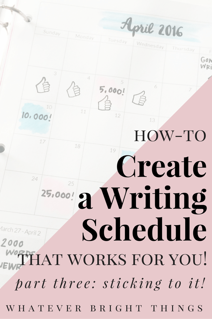 In the third and final installment of this How-To series, I'll walk you through a few ways to make sure you stick to your writing schedule and how-to create a writing ritual that gets you in the right mindset. Click through to read part three of How-To Create A Writing Schedule that Works for You!