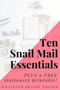 Hello friend! This post is all about Snail Mail and what you need to make your letters cute. Click through to check out my 10 Snail Mail Essentials!