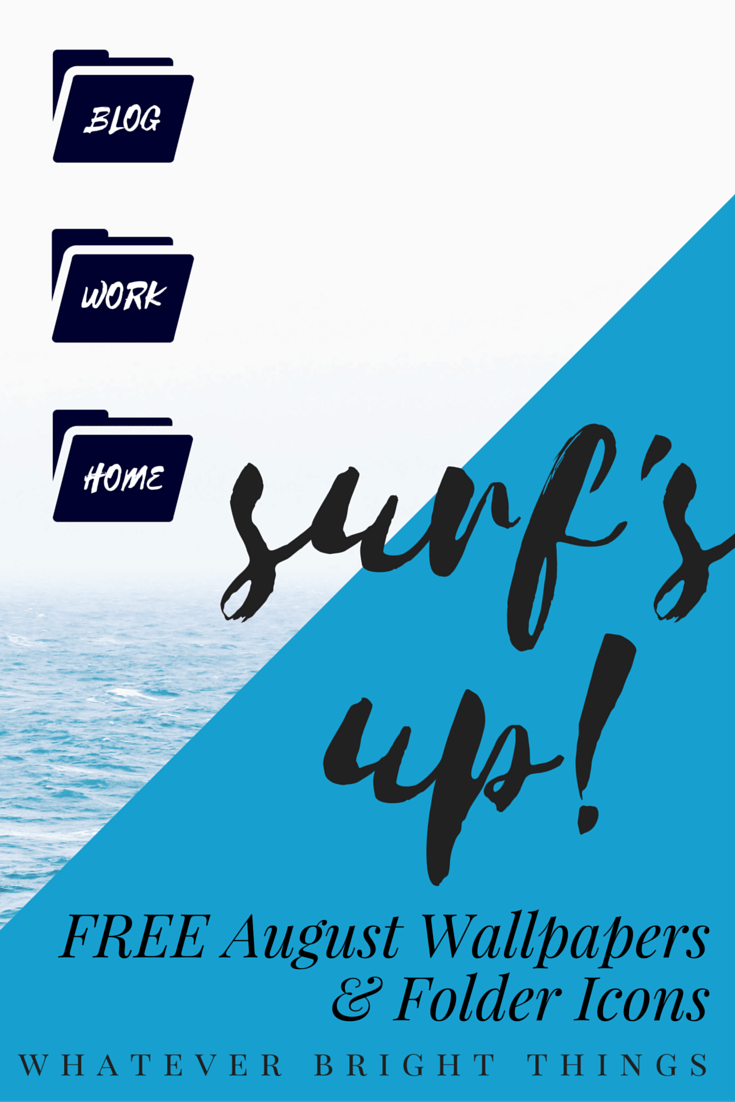 Surf's Up! Check out this month's surf-themed August Wallpapers & Folder Icons and download your favorite designs for free!