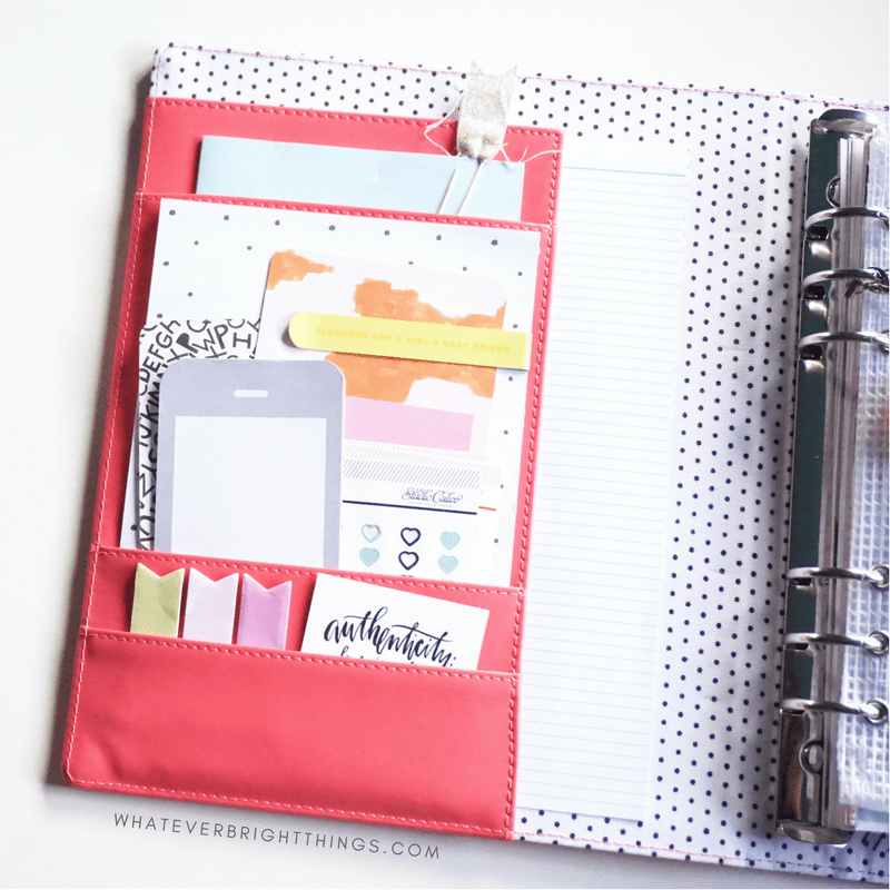 Are your planner pockets in need of a makeover? Check out these Three Simple Steps to Planner Pocket Perfection - your pockets will be cute, inspirational, and functional in no time!