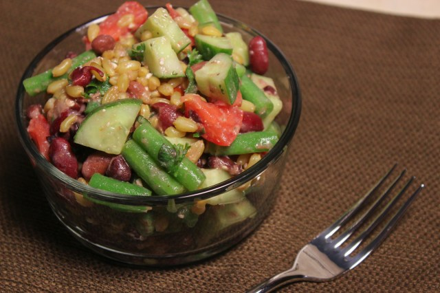 Mustardy Four-Bean Salad