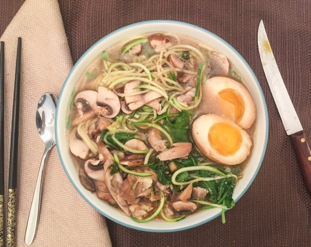 red miso zoodle ramen soup