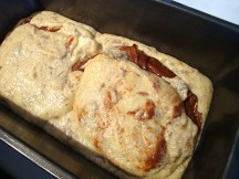 Load the batters into the baking pan.