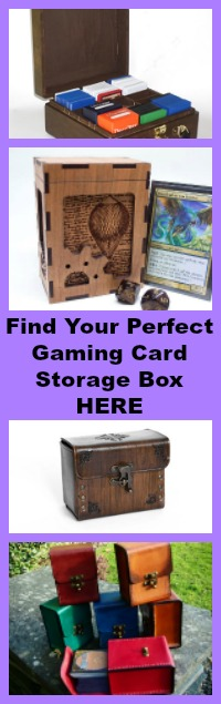 gaming card storage box
