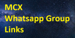 1200+ MCX Whatsapp Group Links 2020-2021