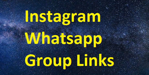 Instagram Whatsapp Group Links