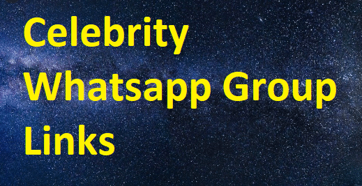 celebrity Whatsapp Group Links