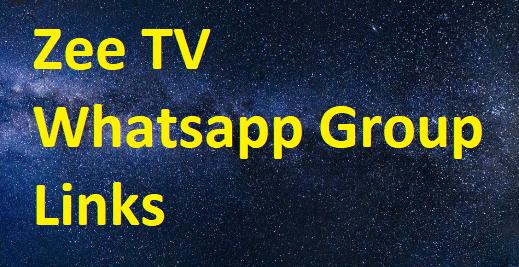 zee tv whatsapp group links
