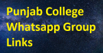Punjab College Whatsapp Group Links Free