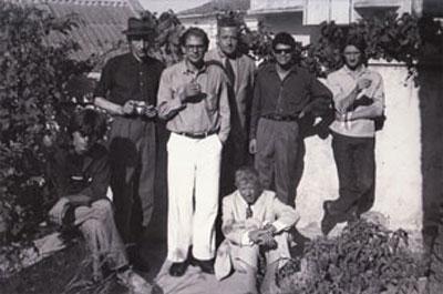 William S. Burroughs, Allen Ginsberg, Alan Ansen, Gregory Corso, Ian Summerville, Peter Orlovsky, Paul Bowles, Tangiers, 1957