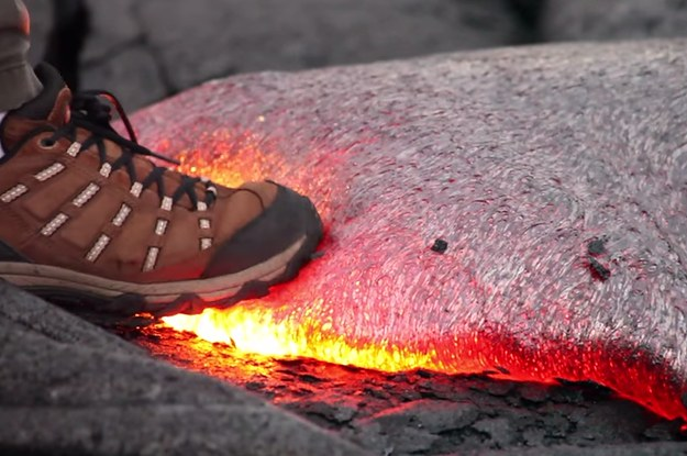 What would happen if you fell into a volcano?