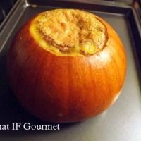 Vanilla Coconut Custard Baked in a Sugar Pumpkin (Dairy-Free)