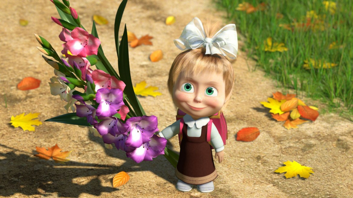 masha-with-flower