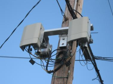 Small cell Mounted on Telephone Pole