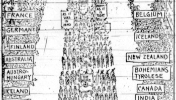 """Colored Women in Suffrage Parade,"""" The Times Dispatch"""