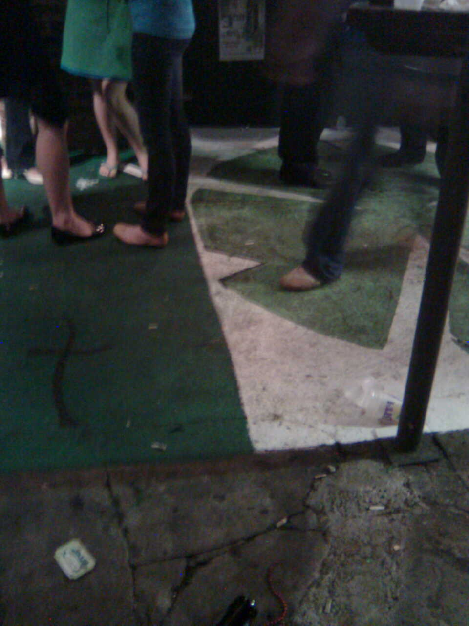 Irish Flag Sidewalk at Molly's On The Market