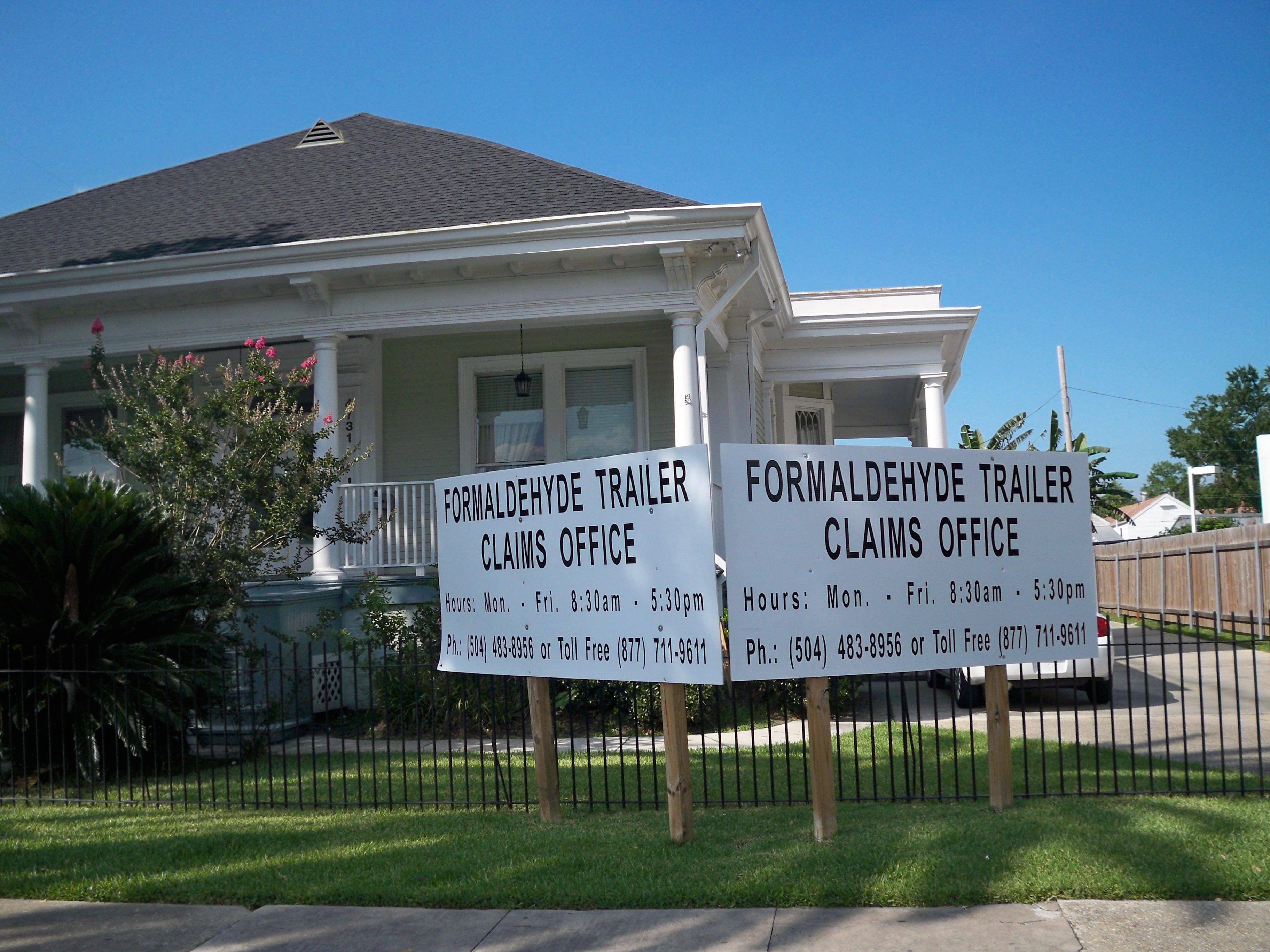 FEMA Formaldehyde Trailer Claims Office