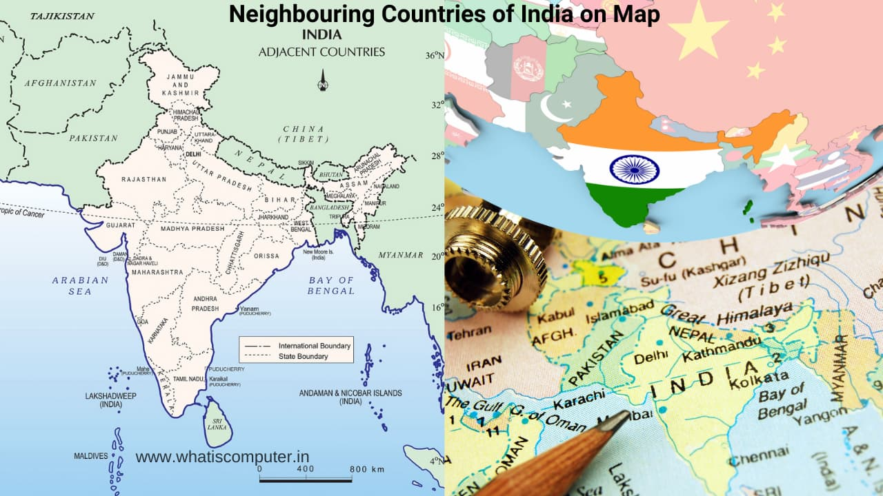 Neighbouring Countries of India and their Capitals