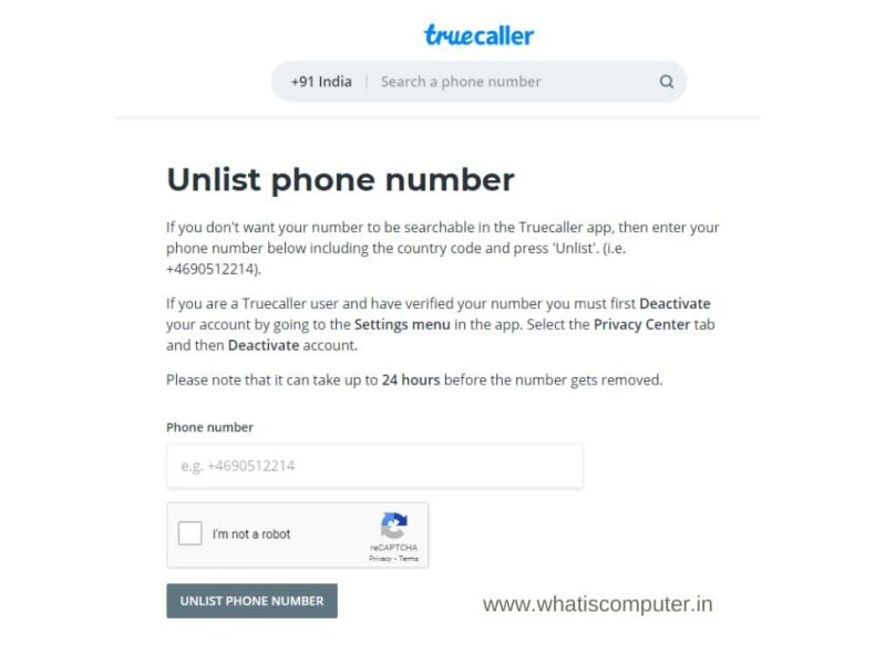 How to Remove the Name from Truecaller