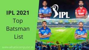 IPL 2021 Top Scorer | IPL 2021 Top Batsman List | IPL 2021 Top Runs
